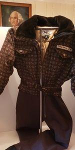 NWT espresso Megeve Obermeyer ski suit size 10